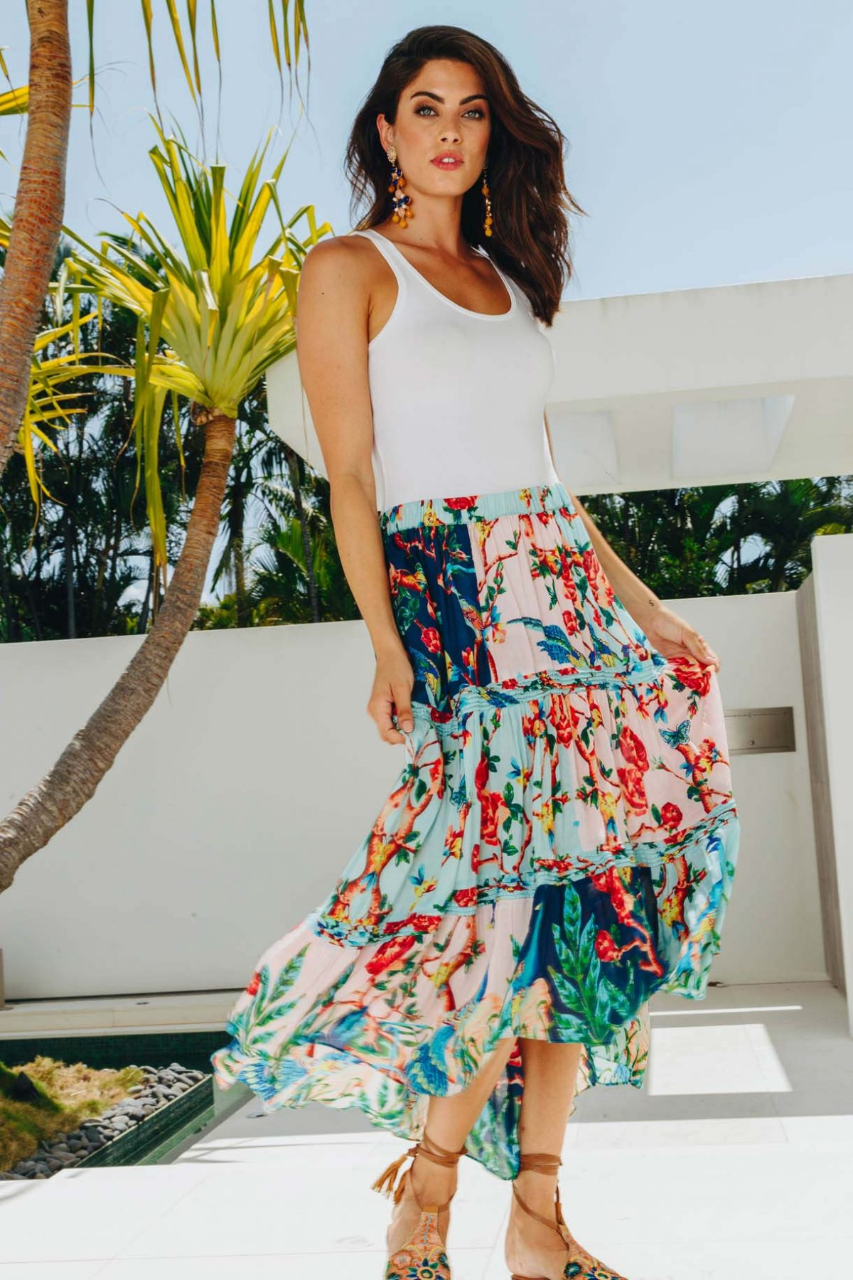 Lulasoul Peacock Skirt collection August 2019