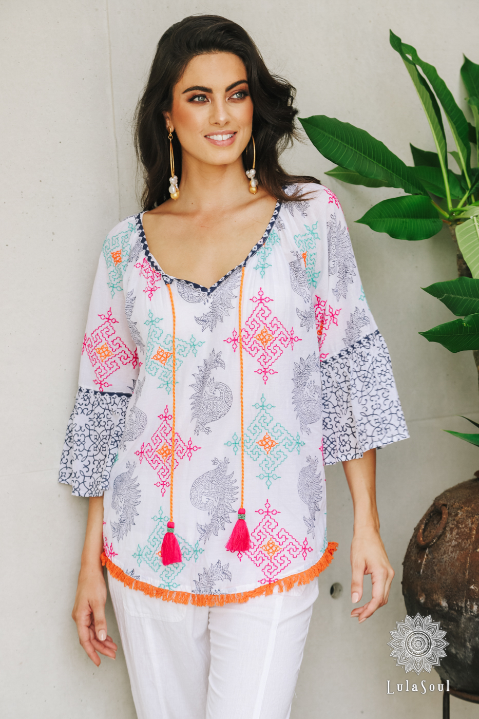 Lulasoul Amber Top White collection Sep-20