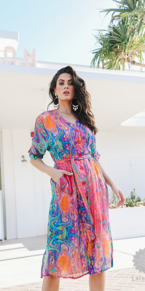 Lulasoul Celeste Dress Melon collection Oct-20