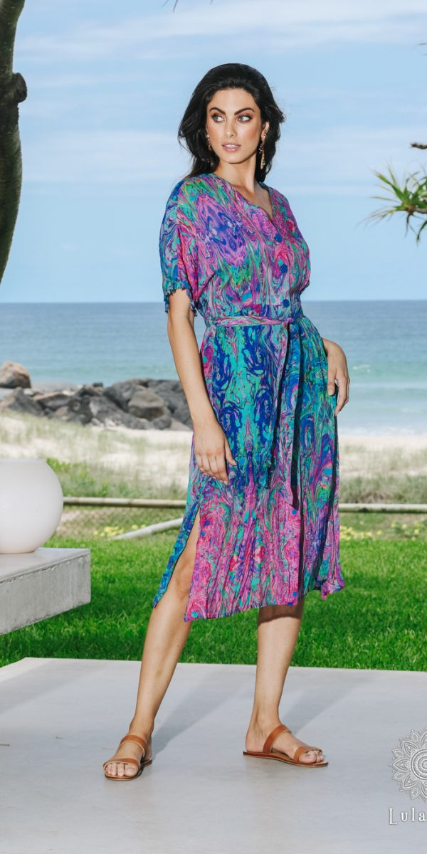 Lulasoul Celeste Dress Sea collection Oct-20