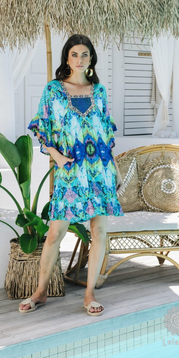 Lulasoul Lena Dress Ocean collection Oct-20