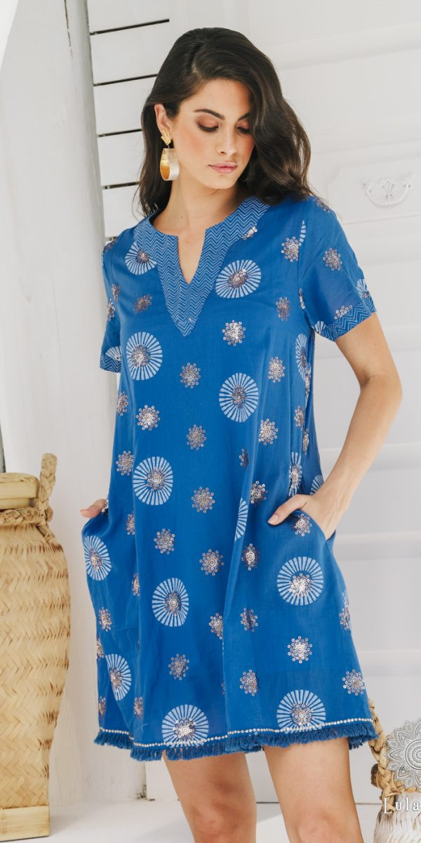 Lulasoul Lydia Dress Ocean collection Oct-20