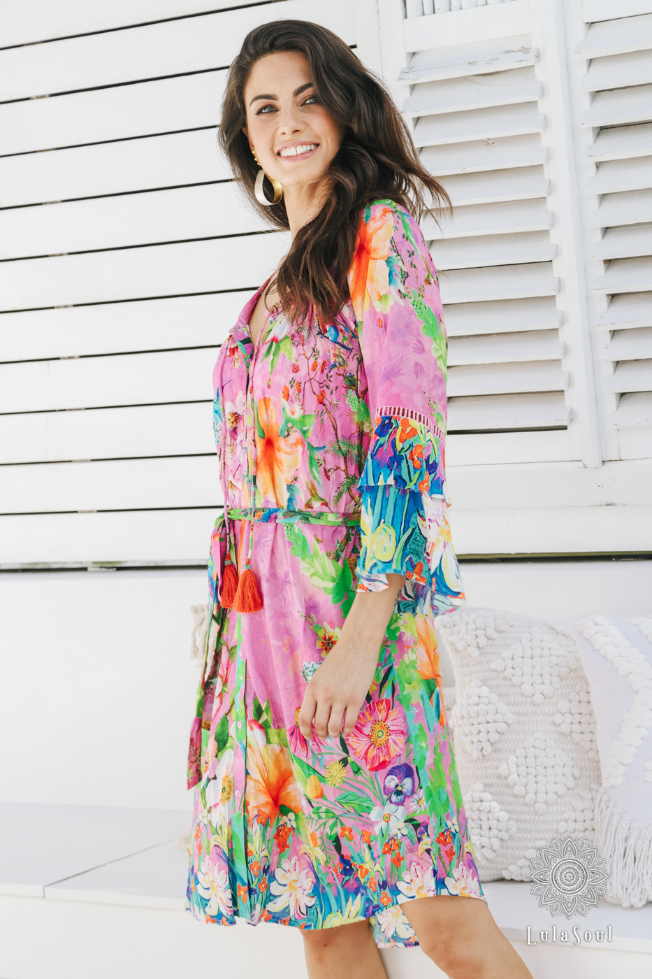 Lulasoul Paradise Dress Orchid collection Oct-20