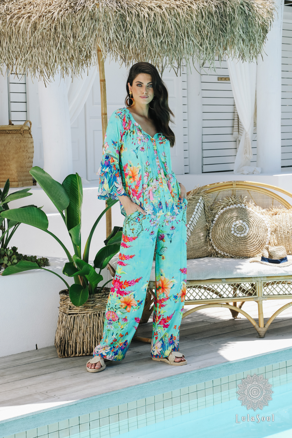 Lulasoul Paradise Pant Sea collection Oct-20